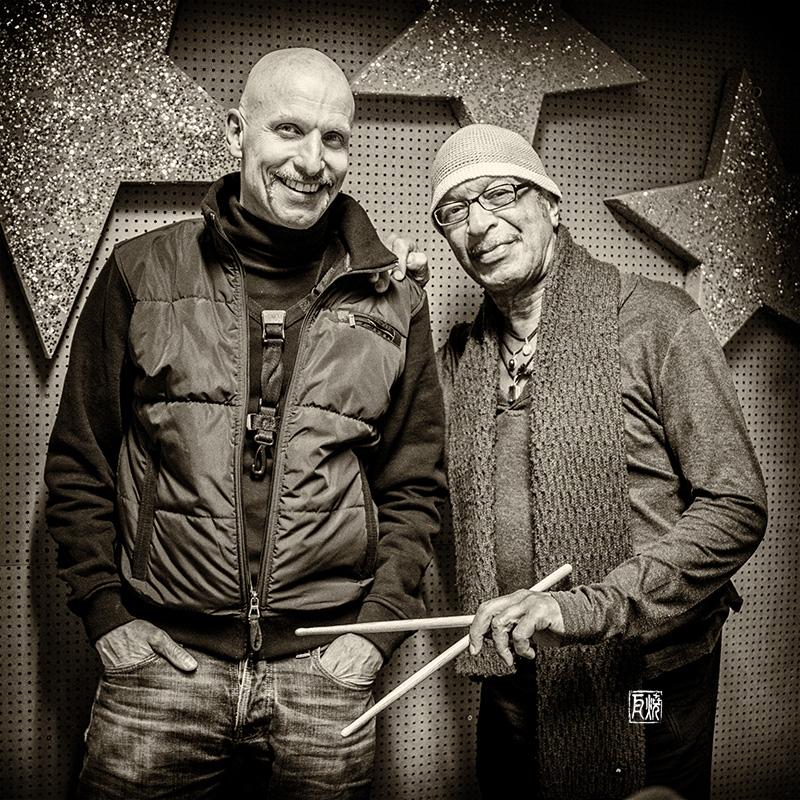 Foto - Olaf Schönborn und Allen Blairman by Frank Schindelbeck Jazzfotografie